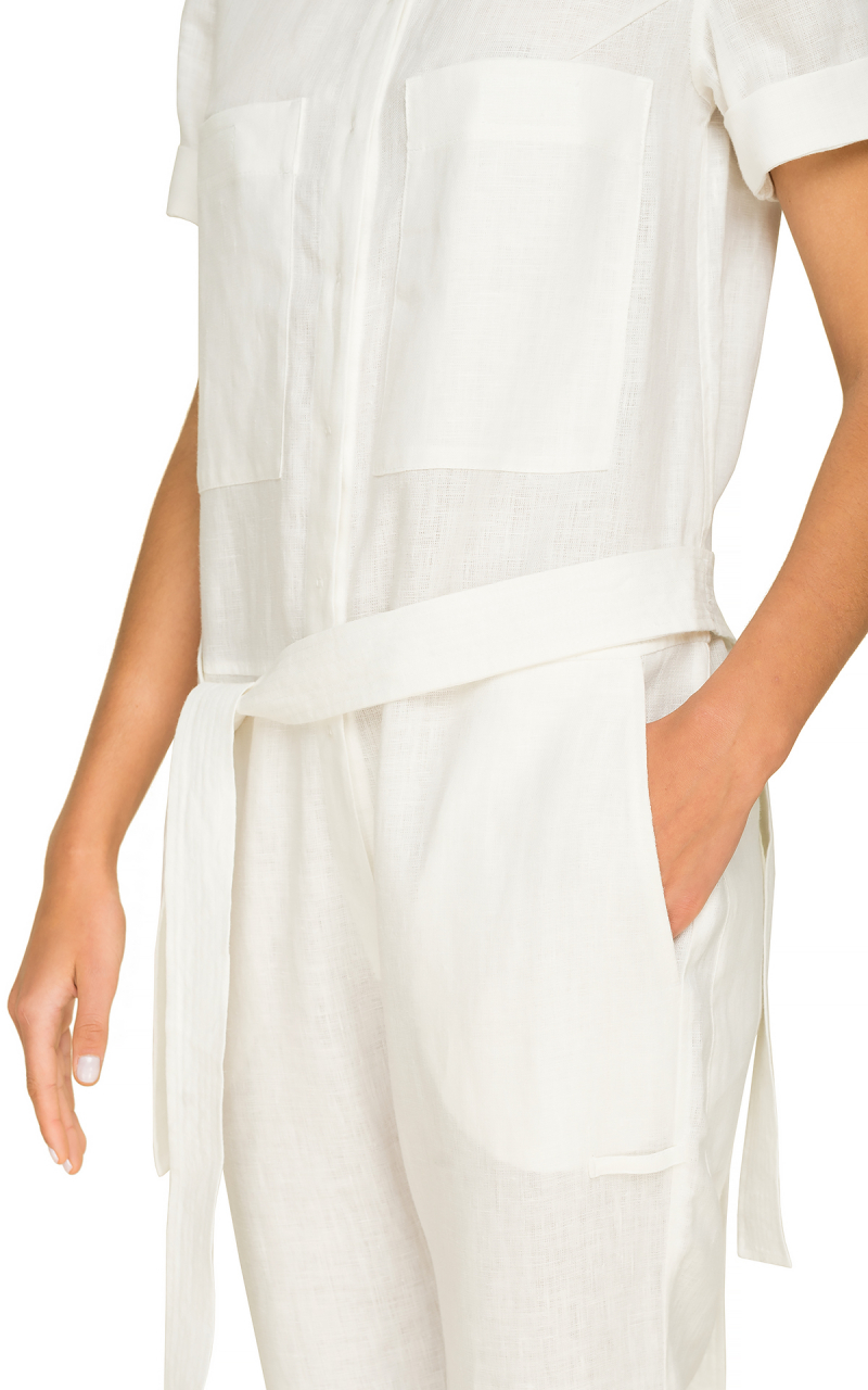 Jumpsuit Style 5839957-735-112 White - TAGO